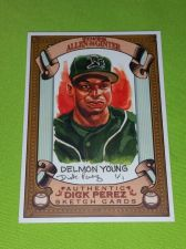 Buy MLB DELMON YOUNG RAYS 2007 TOPPS ALLEN & GINTER DICK PEREZ SKETCH CARD MNT