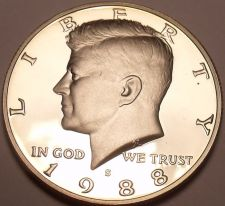 Buy 1988-S GEM PROOF KENNEDY HALF~FREE SHIPPING~AWESOME~
