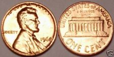 Buy 1968-P GEM UNCIRCULATED LINCOLN CENT~FREE SHIPPING INC~