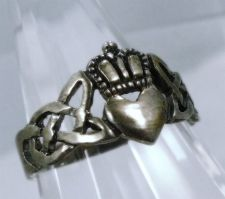 Buy sz 7 Celtic Vintage Claddagh Commitment Ring Sterling Silver I GIVE YOU MY HEART
