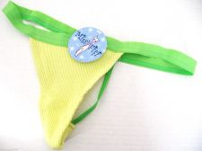 Buy A0003 Miss Pfiff Intimates Yellow Thermal Green Thin Blet Waistband G-String New