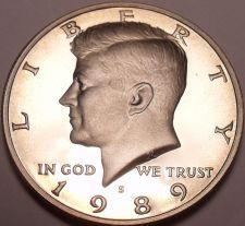Buy United States Proof 1989-S John F. Kennedy Half Dollar~Free Shipping