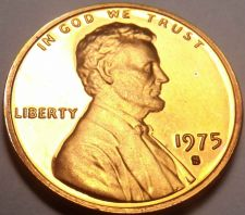 Buy BLAZING RED 1975-S IMPOSSIBLE TO FIND PROOF LINCOLN~F/S