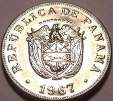 Buy Rare Proof Panama 1967 5 Centesimos~Only 19,983 Minted~See R Coins~Free Shipping