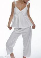 Buy Y051 Vera Wang NEW W237912 Pure Modal Flutter Capri Pajama Top and Pant Set L PR