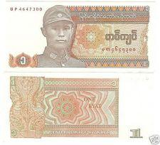 Buy MYANMAR 1 KYAT UNCIRCULATED VERY COLORFUL NOTE~FREE SHI