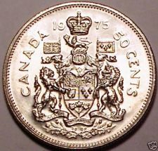 Buy Gem Uncirculated Canada 1975 50 Cents~Fantastic~We Have Canadian Coins~Fr/Shi