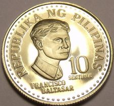 Buy Rare Proof Philippines 1976 10 Sentimos~Only 9,901 Minted~Bank Seal~Free Ship