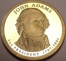 Buy United States 2007-S John Adams Presidential Proof Dollar~Free Shipping