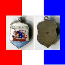 Buy BREMERHAVEN GERMANY Enamel & Sterling Travel Shield Souvenir Charm