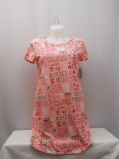 Buy Secret Treasures Women's Sleep Shirt Size S Pink Love Verbiage Short Sleeves