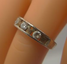 Buy sz 8 Ring : Sterling Silver Mickey Mouse Wedding Band signed Disney CZ