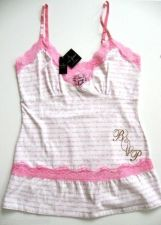 Buy X0563 Baby Phat NEW White Pink Logo Scripts Lace Camisole Top N Boyshorts Set PR