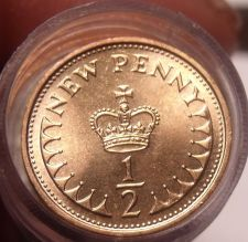 Buy Gem Unc Roll (50) Great Britain 1971 Half Penny's~1st Year Ever Minted~Free Ship