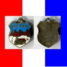 Buy Enamel & Silver Travel Shield Souvenir Charm KARERPASS GERMANY