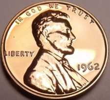 Buy United States Proof 1962 Cent~We Have Hundreds Of Proof Coins~Free Shipping