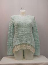 Buy No Boundaries Sweater Juniors Size XXL Popcorn Chenille Lace Hem Asymmetrical