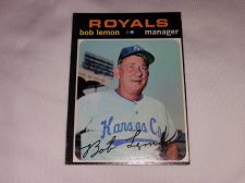 Buy VINTAGE 1971 TOPPS BOB LEMON ROYALS BASEBALL #91 GD-VG