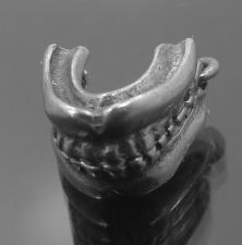 Buy vintage ARTICULATED - FALSE TEETH - UNMARKED SILVER CHARM