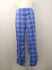 Buy SIZE 20 Womens Pajama Bottoms Blue Plaid MICRO FLEECE Sleepwear Straight Legs