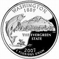 Buy 2007-D WASHINGTON BRILLIANT UNCIRCULATED STATE QUARTER~FREE SHIPPING INCLUDED~