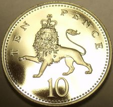 Buy Scarce Proof Great Britain 1978 10 Pence~88,000 Minted~Crowned Lion~Free Ship