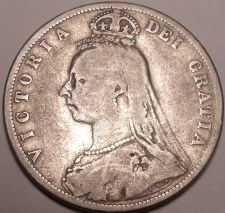 Buy Huge Rare Silver Great Britain 1887 Half Crown~1st Year This Type~Free Shipping~