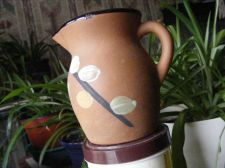 Buy STONEWARE PITCHER with Hand PAINTED Decoration