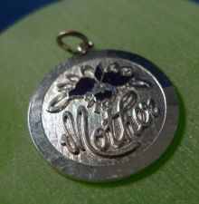 Buy sterling silver Black Orchid Mother / Flower Charm