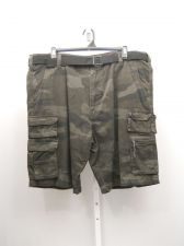 Buy Mens Camouflage Cargo Shorts Size 44X12 SNDNSTA Straight Legs Belt 100% Cotton