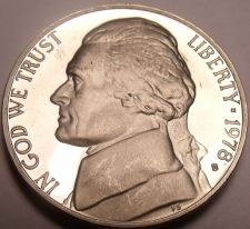 Buy Cameo Proof 1978-S Jefferson Nickel~See All Our Proof Coins~Free Shipping