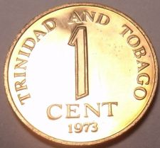 Buy Rare Proof Trinidad & Tobago 1973 Cent~Last Year~Only 20,000 Minted~Free Ship