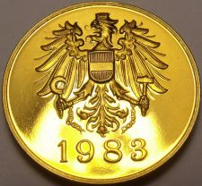 Buy Austria 1983 Proof Set Medallion~Screaming Eagle~Free Shipping