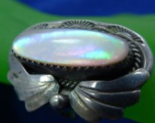 Buy sz 6 RING : Sterling 925 Silver and MOP Native American Mother of Pearl