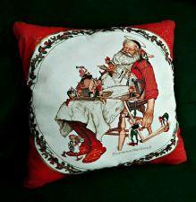 Buy Throw Pillow Norman Rockwell Santa handmade New