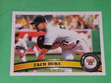 Buy MLB Zach Duke Pirates 2011 Topps Baseball GD-VG