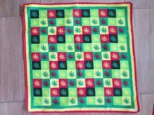 Buy Marijuana Weed Leaf Cloth Flag 19 x 19 inch Swaddle Head Wrap,REGGAE RASTA HIPPY