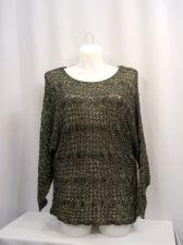 Buy Jessica Simpson Sweater Plus Size 2X Solid Black Long Sleeve 47% Acrylic