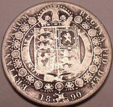 Buy Huge Rare Silver Great Britain 1890 Half Crown~Victoria Dei Gratia~Free Shipping
