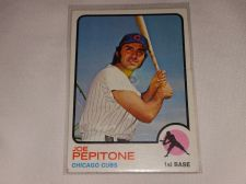 Buy VINTAGE 1973 JOE PEPITONE CUBS BASEBALL #580 GD-VG