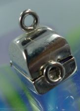 Buy vintage ARTICULATED WELLS sterling 925 silver CHARM : WEDDING RING IN BOX