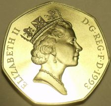 Buy Huge Cameo Proof Great Britain 1993 50 Pence~Proofs Are The Mints Best Work~F/Sh