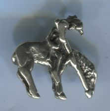 Buy CHARM: VINTAGE silver ' END OF THE TRAIL ' NATIVE AMERICAN CHARM