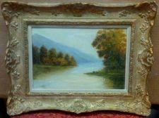 "Buy CANADIAN HISTORIC ARTIST EMMA MAY MARTIN (1865-1957) ""THE SCOTTISH HILLS"" O/B"