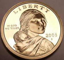 Buy United States 2006-S Sacagawea Cameo Proof Dollar~Free Shipping