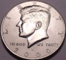Buy United States Unc 2000-D Kennedy Half Dollar~Free Shipping