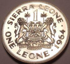 Buy Massive Rare Proof Sierra Leone 1964 Leone~10,000 Minted~1st Year Ever~Free Ship