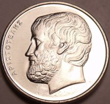 Buy Gem Unc Greece 2000 5 Drachmas~Nice Design~Aristotle~Greek History~Free Shipping