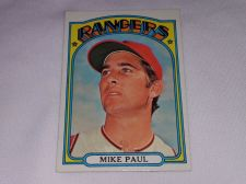 Buy VINTAGE 1972 TOPPS MIKE PAUL RANGERS BASEBALL #577 GD-VG