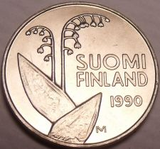 Buy Gem Unc Finland 1990-M 10 Pennia~Penni~Flower pods And Stems~Honeycombs~Free Shi